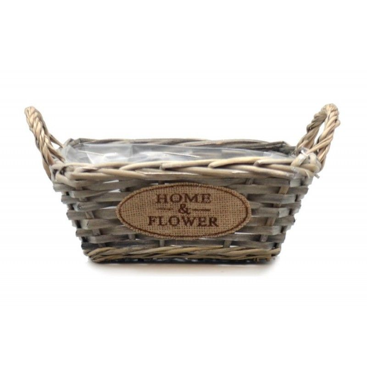 Doniczka wiklinowa kosze HOME & FLOWER 28x22x15cm Arte Regal 38632.1