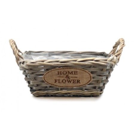 Doniczka wiklinowa kosze HOME & FLOWER 28x22x15cm