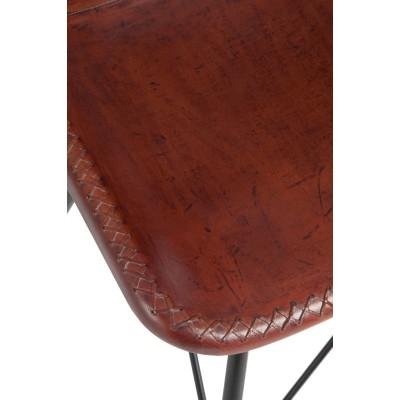 2 krzesła skórzane brązowe GANDAWA w super cenie!