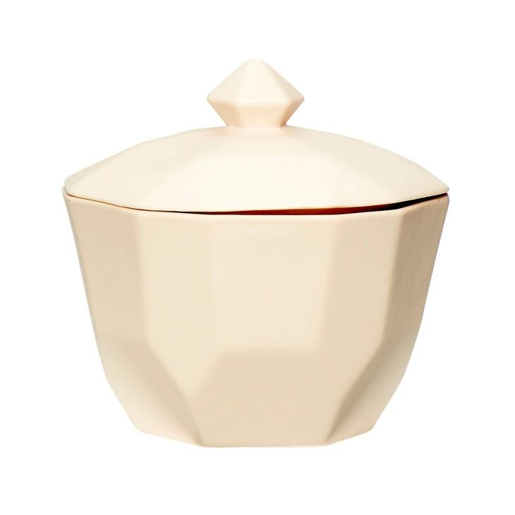 Cukierniczka ceramiczna kremowa GEOMETRIC Hubsch 720207