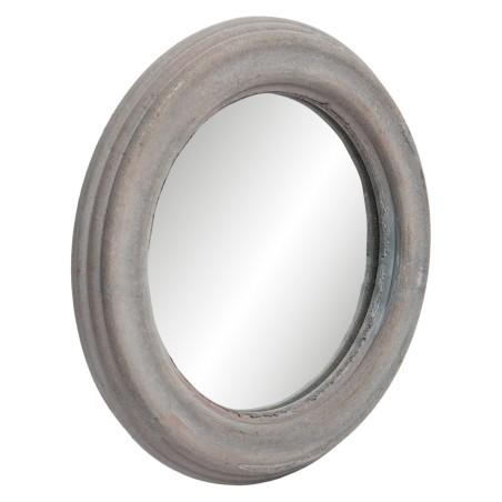 Lustro wiszące na ścianę okrągłe RUSTIC drewniane 22.5cm