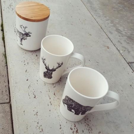 Kubek ceramiczny z motywem renifera