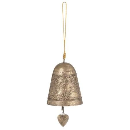 Dekoracja świąteczna dzwonek BELL metalowy antyczne złoto