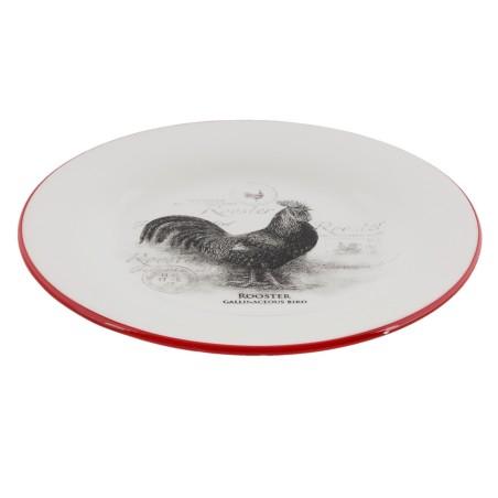 Talerz ceramiczny duży z motywem koguta