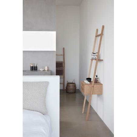 Półka drabinka drewniana MALMO dębowa
