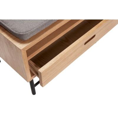 Ławka z szufladą SOLO drewniana