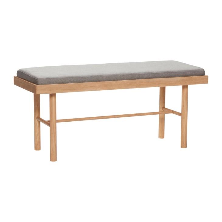 Ławka z poduszką OAK drewniana Hubsch 880708
