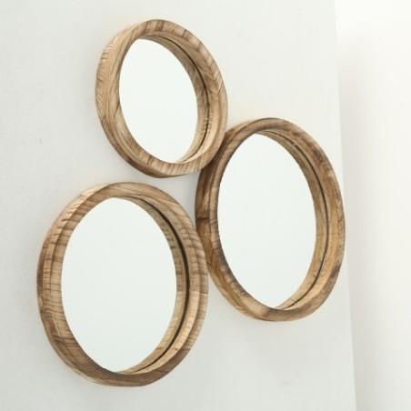 Zestaw luster okrągłych JONES- 3 sztuki
