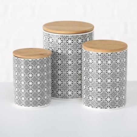 Pojemnik ceramiczny TILES 14 cm z hiszpańskim wzorem