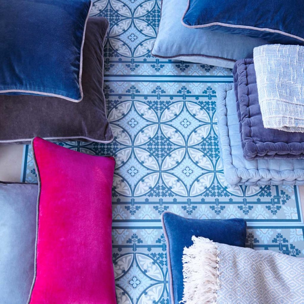 Styl Hampton - tekstylia