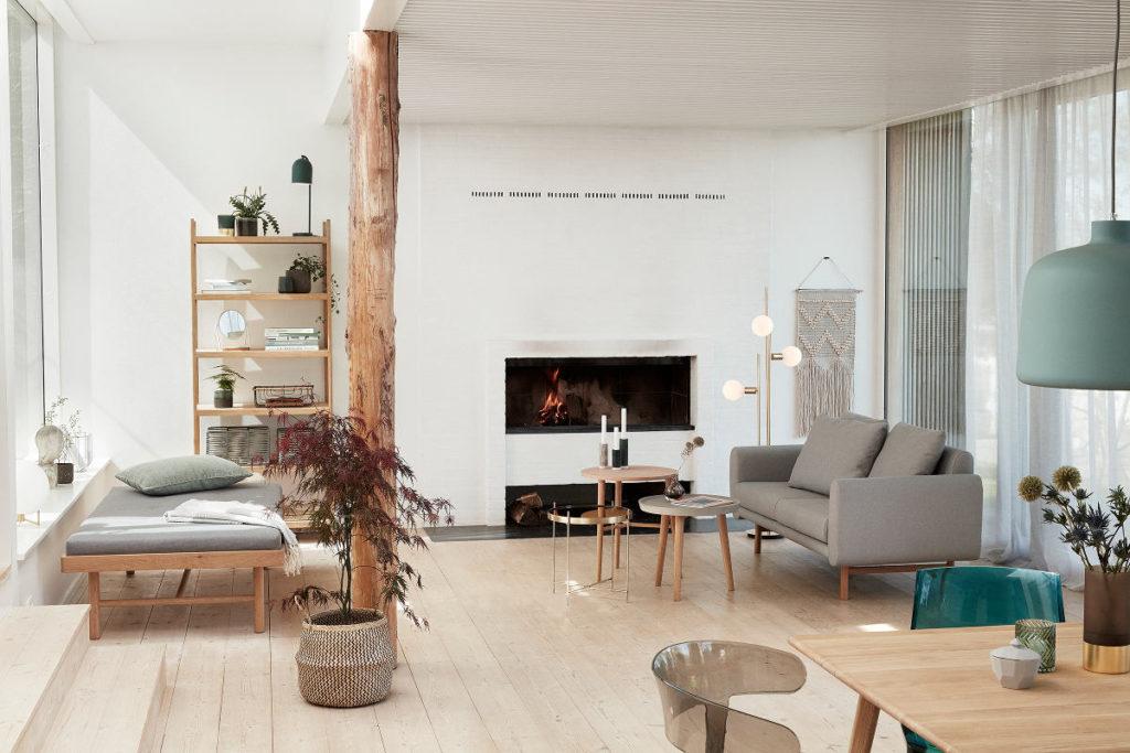Cudowna sofa For 2 People szara tapicerowana marki Hubsch